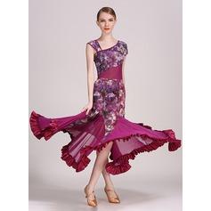 Women's Dancewear Spandex Velvet Latin Dance Modern Dance Performance Ballroom Dresses