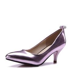 De mujer Cuero Tacón stilettos Salón Cerrados con Rhinestone zapatos