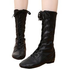 Unisex Leatherette Flats Jazz Dance Boots Dance Shoes