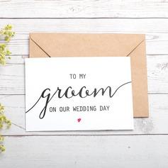 Bräutigam-Geschenke - Modern Style Karton Papier Hochzeitstag-Karte (257184613)
