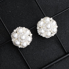 Ladies' Elegant Rhinestones/Imitation Pearls Earrings For Bride/For Bridesmaid/For Mother/For Friends/For Couple (011220117)