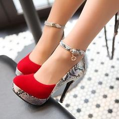 Женщины Замша Высокий тонкий каблук На каблуках Платформа обувь