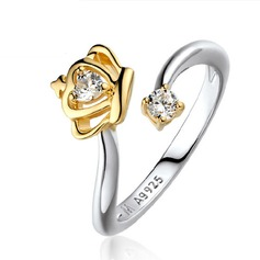 Beautiful Silver Plated Ladies' Fashion Rings