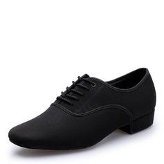 Men's Stretch Canvas Flats Latin Dance Shoes