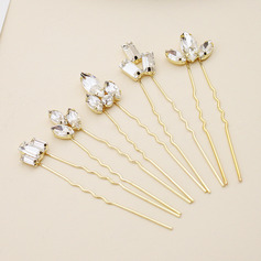 Ladies Stylish Alloy Hairpins With Rhinestone (Set of 5)