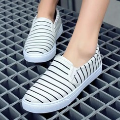 Women's Canvas Flat Heel Flats Closed Toe Wedges shoes