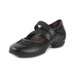 Mulheres Couro verdadeiro Sem salto sapatos de personagem Sapatos de dança
