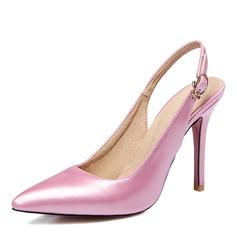 Donna Similpelle Tacco a spillo Stiletto Punta chiusa Con cinturino con Fibbia scarpe