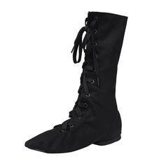 Unisexe Toile Chaussures plates Jazz Bottes de Danse Chaussures de danse