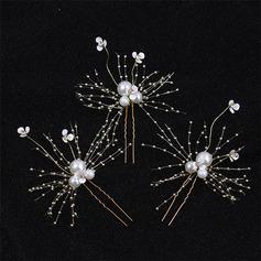 Romantisk Legering Hårnåler med Venetianske Perle Sett Av 6