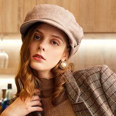 Damer' Klassisk stil/Nice/Söt/Hetaste Ull/polyester Basker Hat