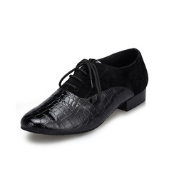 Men's Leatherette Suede Flats Latin Ballroom Swing Practice Character Shoes Dance Shoes (053082027)
