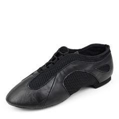 Herren Echtleder Flache Schuhe Jazz Tanzschuhe