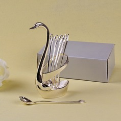 """""""Love Birds In The Window""""/Cute Animal Animal Shaped Zinc Alloy Spoon And Fork Set"""