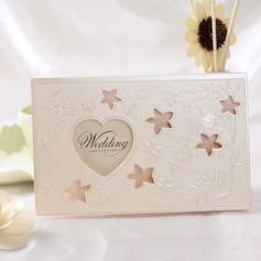 стиль сердца Tri-Fold Invitation Cards (набор из 50)
