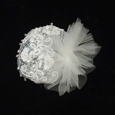 Senhoras Lindo Strass/Tule Fascinators
