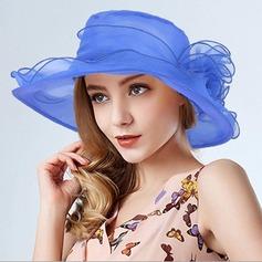 Señoras' Estilo clásico Organdí Disquete Sombrero/Derby Kentucky Sombreros/Sombreros Tea Party