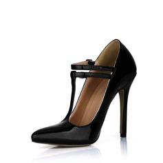 Pelle verniciata Tacco a spillo Stiletto Punta chiusa con Fibbia scarpe