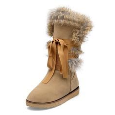 Cuero Tacón plano Botas longitud media con Piel zapatos
