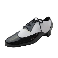 Men's Leatherette Pumps Latin Modern Ballroom With Lace-up Dance Shoes
