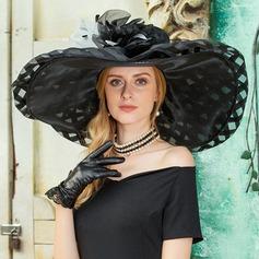 Moda Organdí con Pluma Disquete Sombrero
