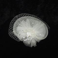Damen Prächtig Net Garn/Strass Kopfschmuck