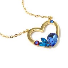 Signore A forma di cuore Cristallo/rame con Pera Cristallo Collane Per Lei (011228412)