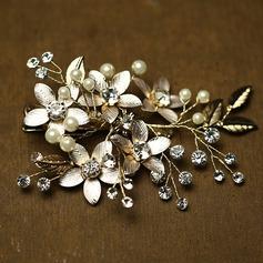 Hermoso Rhinestone/La perla de faux Peines y pasador