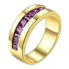 Fashional Cobre/Zircon/Banhado a ouro Senhoras Anéis
