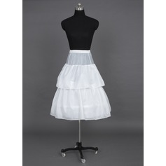 Girls Tulle Netting/Taffeta Floor-length 2 Tiers Petticoats