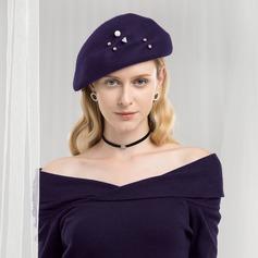 Damen Glamourös/Romantisch Wollen Baskenmütze Hut