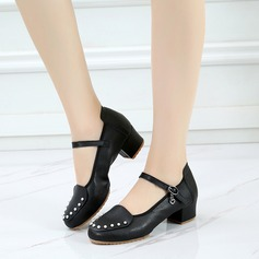 Women's Real Leather Pumps Latin Dance Shoes