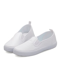 Unisex Closed Toe Loafers & Slip-Ons Canvas Canvas Flat Heel Flats Sneakers & Athletic