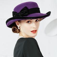 Damer' Utsökt Ull med Bowknot Diskett Hat