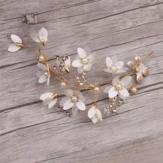 Spesielle Legering/Silke blomst Kammer og Barrettes med Venetianske Perle (Sett med 2)
