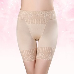Damen Sexy/Elegant/Anhänger Elasthan Atmungsaktivität Hohe Taille Kurze Hose mit Jacquard Formwäsche