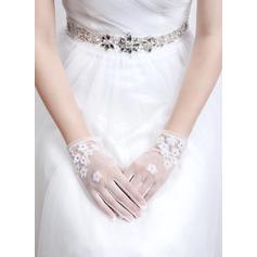 Tyll Wrist Längd Handskar Bridal