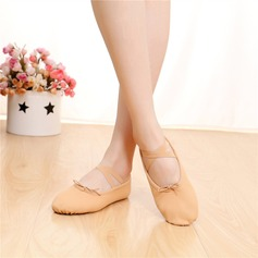 Femmes Satiné Chaussures plates Ballet Ventre avec Dentelle Chaussures de danse