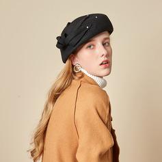 Señoras' Hermoso/Glamorosa/Encanto Madera con Tul Boina Sombrero