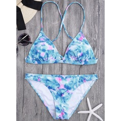 Sexy Triángulo poliéster Del spandex Bikinis Traje de baño