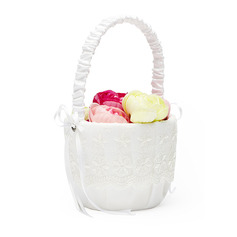 Kukkaistyttömekot Satiini Flower Basket