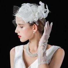 Dames Beau/Mode/Élégante Batiste avec Tulle Chapeaux de type fascinator/Chapeaux Tea Party