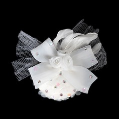 Besondere Des chiffon Tüll Blumen Haarschmuck