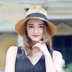 Senhoras Moda Rattan de palha Chapéu de palha