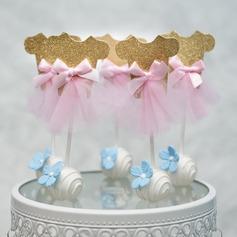 Clássico/É uma menina papel cartão Decorações de bolos (Vendido em uma única peça)
