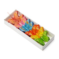 Colorful Organza Butterfly Decorative Accessories (set of 12)