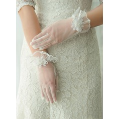 Tulle Wrist Length Bridal Gloves (014125672)