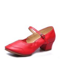 Vrouwen Echt leer Dans Sneakers Character Shoes met Gesp Dansschoenen