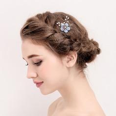 Senhoras Elegante Falso pérola/Flor de seda Grampos de cabelo