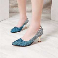 Women's Sparkling Glitter Others Pumps Closed Toe With Sequin shoes